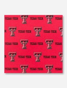 Double T Texas Tech Red Fabric Shower Curtain