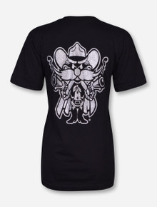 Texas Tech Black Diamond Mascot on Black T-Shirt