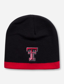 Texas Tech Double T Red and Black Beanie