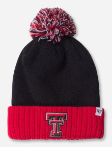 "47 Brand Texas Tech ""Distance"" YOUTH Red and Black Knit Cap"