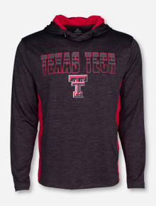 Arena Texas Tech Heather Charcoal Red Jersey Hoodie