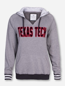 Arena Texas Tech Looped Embroidered Women's Heather Grey Hoodie