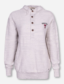 Chiliwear Texas Tech Women's Buttoned Ivory Hoodie