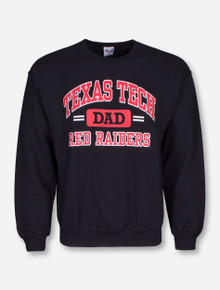 Texas Tech Dad Black Crew Sweatshirt