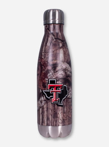 Texas Tech Lone Star Pride Twist On Stainless Steel Camo Water Bottle
