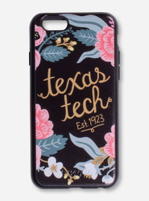 Texas Tech Floral Wreath Black Phone Case