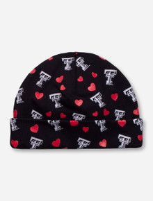 Texas Tech Double T and Hearts INFANT Black Cap