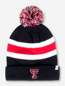 "47 Brand Texas Tech ""Breakaway"" Black Striped Bobble Hat"