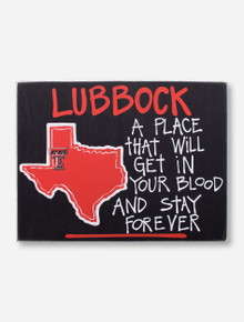Texas Tech Lubbock Stay Forever Wood Sign