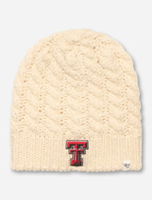 "47 Brand Texas Tech ""Newbury"" Cream Beanie"