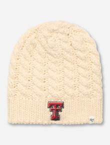 """47 Brand Texas Tech """"Newbury"""" Cream Beanie"""