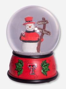 Texas Tech Snowman Snowglobe