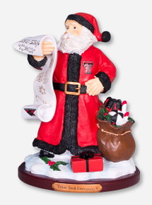 Texas Tech Santa's Nice List Figurine
