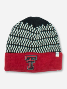 "47 Brand Texas Tech ""Shetland"" Black, White & Red Beanie"