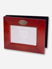 Texas Tech Double T Emblem Wood Photo Album