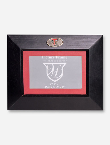 texas tech red raiders double t medallion wood frame. Black Bedroom Furniture Sets. Home Design Ideas