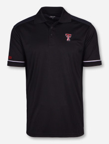 Chiliwear Texas Tech Double T with Grey HoneyComb on Black Polo