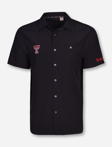 Chiliwear Texas Tech Double T on Black Button Down Dress Shirt