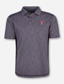 Chiliwear Texas Tech Double T on Heather Grey Polo