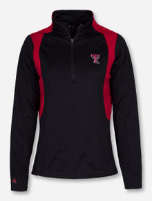 "Antigua Texas Tech ""Delta"" Women's Red and Black Quarter Zip Pullover"
