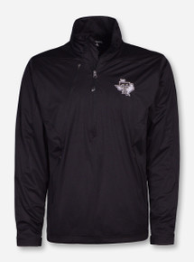 "Antigua Texas Tech ""Discover"" Black Diamond Quarter Zip Pullover"