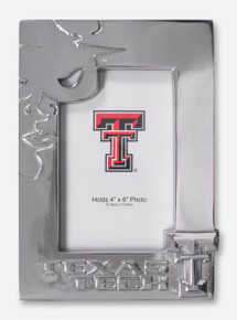 Texas Tech Masked Rider Silhouette Silver Frame