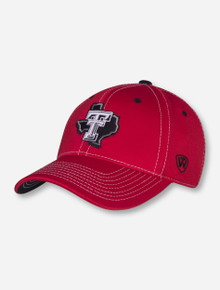 Top of The World Texas Tech Lone Star Pride on Red Stretch Fit Cap