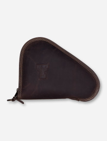 Texas Tech Double T Dark Brown Leather Pistol Case