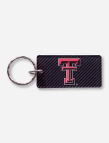 Texas Tech Double T on Illusion Black Key Chain