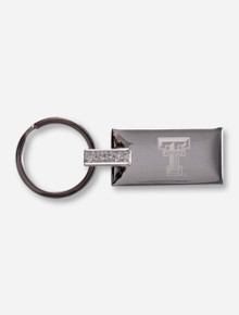 Texas Tech Laser Engraved Double T on Metal Key Chain