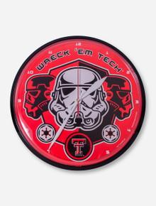Texas Tech Storm Trooper Wreck 'Em Wall Clock