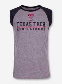 Arena Texas Tech Trailhead Heather Grey Sleeveless T-Shirt