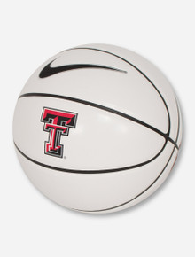 Nike Texas Tech Double T on White & Brown Basketball
