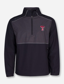 "Columbia Texas Tech ""Pick and Play"" Charcoal and Black Half Zip Pullover"