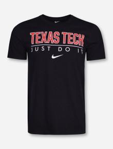 Nike Texas Tech Just Do It on Black T-Shirt