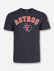 Champion MLB Houston Astros and Texas Tech on Charcoal T-Shirt
