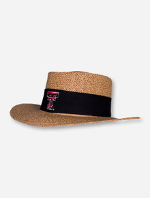 Texas Tech Double T Natural Twist Tournament Straw Hat