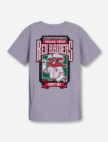 Texas Tech Baseball Ticket on YOUTH Heather Grey T-Shirt