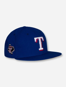 New Era MLB Authentic Official On the Field Texas Rangers and Texas Tech Royal Blue Fitted Cap