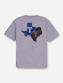 Champion MLB Texas Rangers and Texas Tech State United on YOUTH Heather Grey T-Shirt