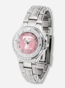 Texas Tech Silver and Pink Pearl Women's Watch