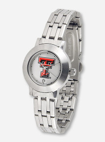 Texas Tech Dynasty Silver and White Face Women's Watch
