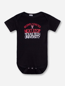 "Texas Tech ""Eviction Notice"" INFANT Black Onesie"