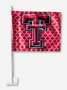 Texas Tech Double T Lattice Car Flag