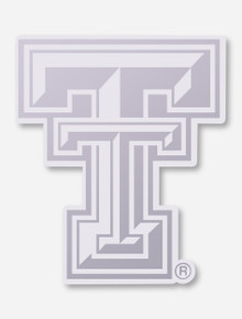 Texas Tech Silver and Clear Double T Decal
