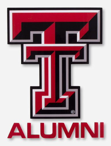 texas tech full color double t alumni decal red raiders. Black Bedroom Furniture Sets. Home Design Ideas
