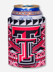 Texas Tech Double T Tribal Aztec Koozie