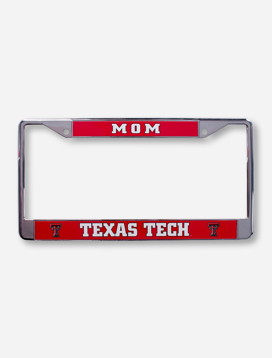 Texas Tech Dad On Red Amp Chrome License Plate Frame Red