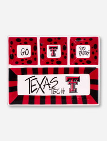 Texas Tech Ceramic Snack 'n' Dip Serving Tray