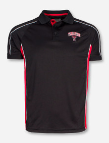 Chiliwear Texas Tech Arch Over Double T on Red and Black Polo